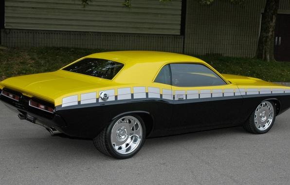 Картинка тюнинг, Dodge, Challenger, 1970, Muscle Car