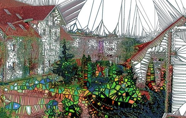 Картинка город, цвет, форма