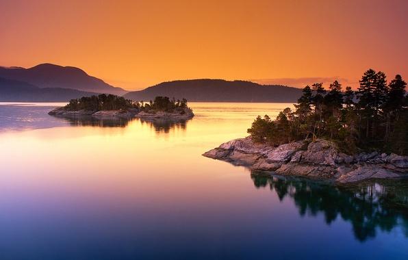 Картинка озеро, остров, канада