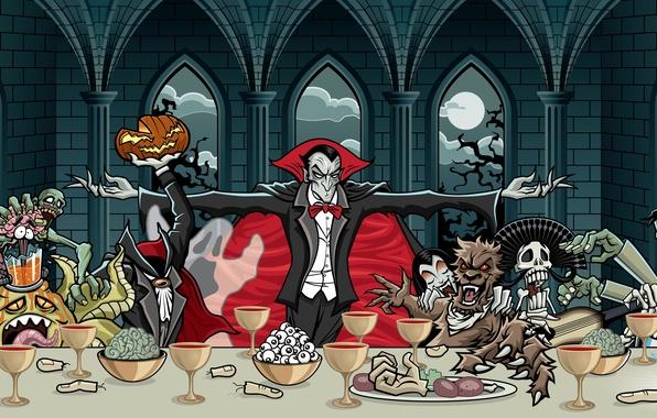 Пир ужин монстры обои фото картинки