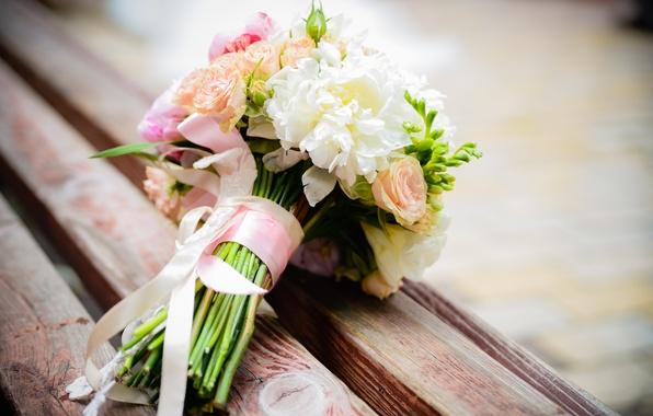 Картинка цветы, розы, букет, flowers, пионы, bouquet, roses, peonies