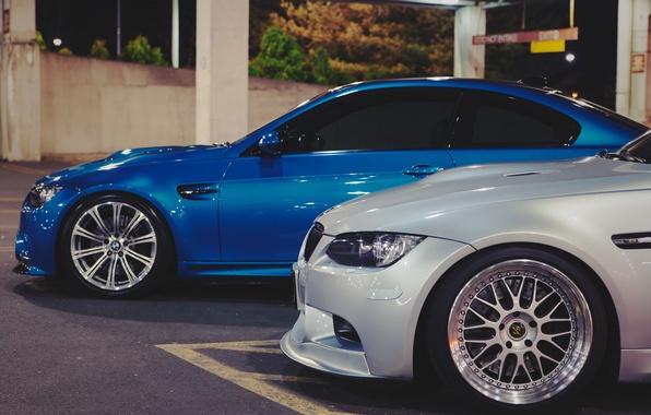 Картинка купе, BMW, white, спорткар, сбоку, blue