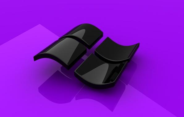 Картинка Desktop, Windows, Microsoft, Purple, Wallpaper, Gloss