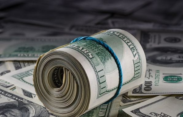 Картинка dollar, paper, roll, bills