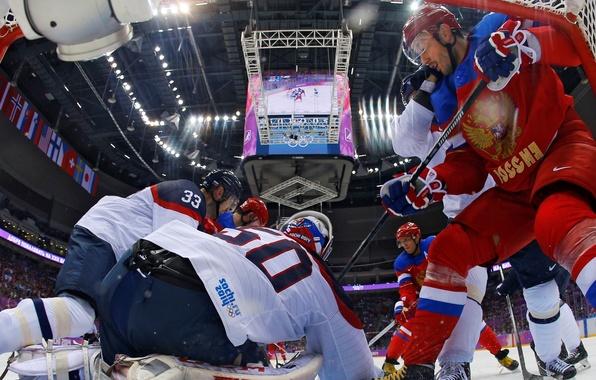 Картинка хоккей, Сочи 2014, XXII Зимние Олимпийские Игры, Россия-Словакия