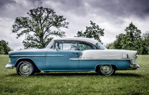 Картинка ретро, Chevrolet, классика, Bel Air