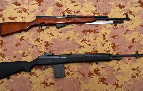 Картинка оружие, винтовка, карабин, M14, самозарядный, полуавтоматическая, СКС, Симонова