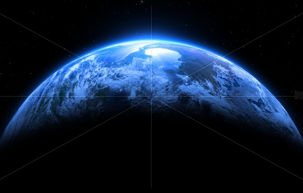 Картинка white, blue, lines, planet