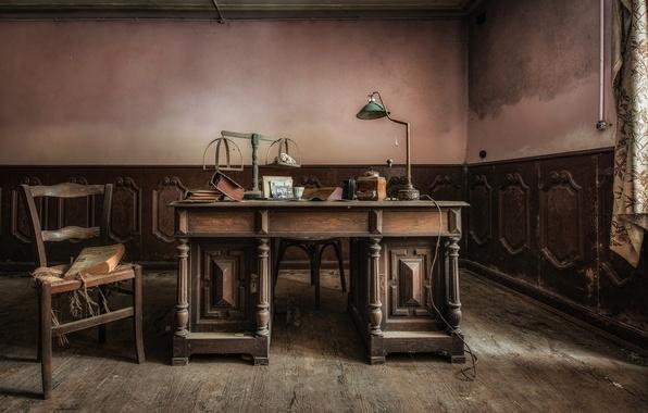 Картинка стол, стул, кабинет