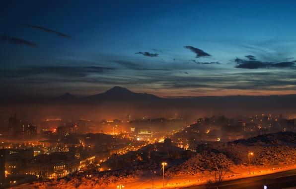 Обои картинки фото armenia, yerevan, армения, ереван, небо