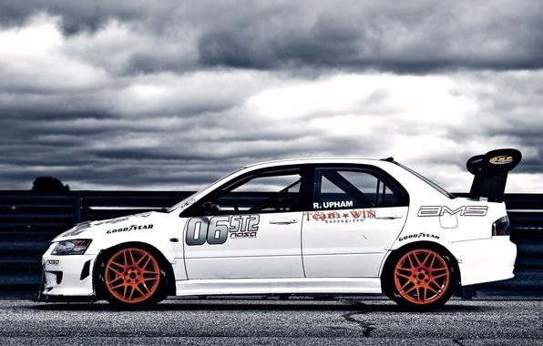 Картинка Mitsubishi, cars, auto, Mitsubishi Lancer, wallpapers auto, Tuning auto, Cars walls, Tuning сars, Race car
