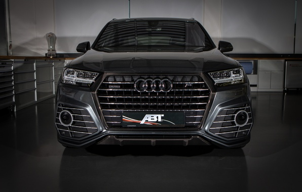 Картинка морда, Audi, ауди, черный, Black, ABT