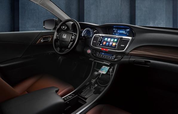 Картинка Concept, панель, интерьер, руль, Honda, Accord, салон, хонда, аккорд, торпедо