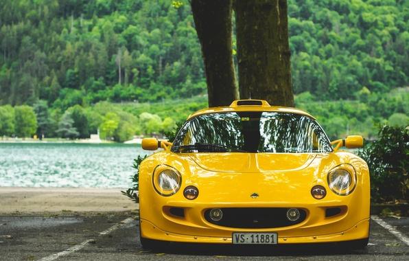 Картинка жёлтый, спорткар, Lotus Exige, Lotus Exige S1