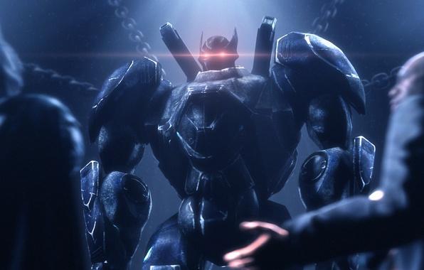 Картинка batman, робот, герой, dc comics, fan art