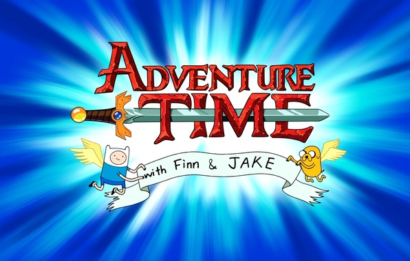 Картинка крылья, меч, заставка, Jake, время приключений, Adventure time, джейк, финн, Finn, надпись., with Finn and …