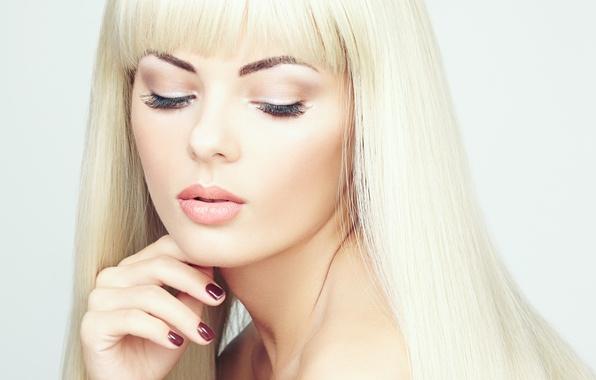 Картинка девушка, макияж, блондинка, girl, маникюр, blonde, makeup, manicures