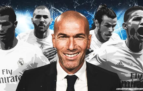 Картинка футбол, Cristiano Ronaldo, football, champions league, Реал Мадрид, Real Madrid, Gareth Bale, Karim Benzema, James …