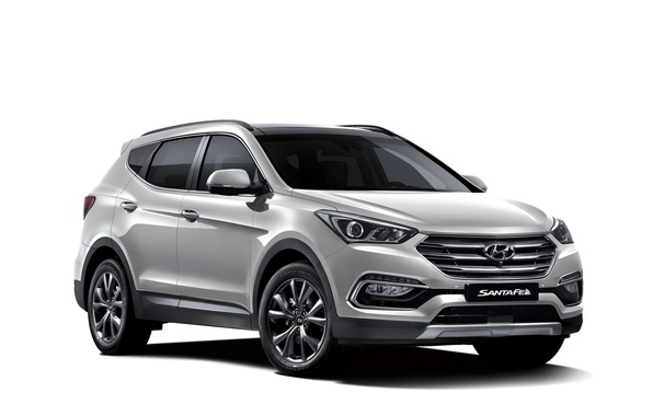 Картинка белый фон, Hyundai, Santa Fe, хундай, санта фе