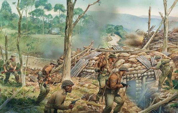 Обои города арт солдаты битва сражение армии