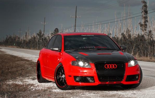 Картинка Audi, Авто, Дорога, Ауди, Тюнинг, Машины, Карбон, Tuning, RS4