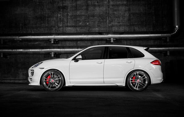 Картинка Porsche, turbo, white, Cayenne, 958, V-CT Edition