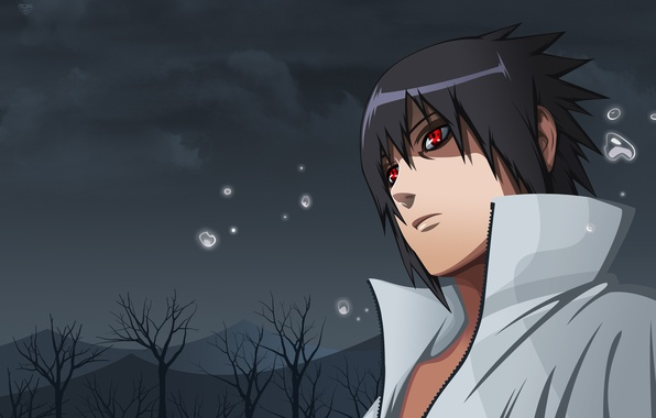 Картинка глаза, взгляд, Аниме, Наруто, Naruto, art, шаринган, Uchiha Sasuke, Учиха Саске