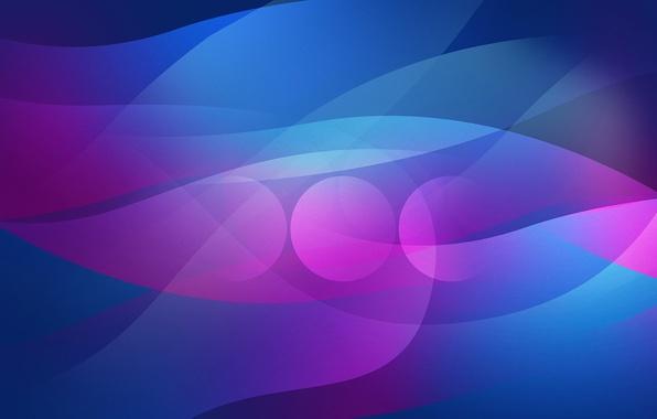Картинка линии, круги, синий, абстракция, розовый