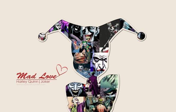 Картинка Love, Джокер, Joker, Харли Квинн, DC Comics, Harley Quinn