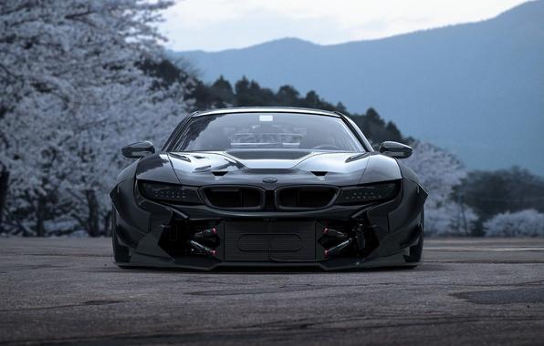 Картинка Concept, BMW, Japan, Car, Sakura, Tuning, Future, i8