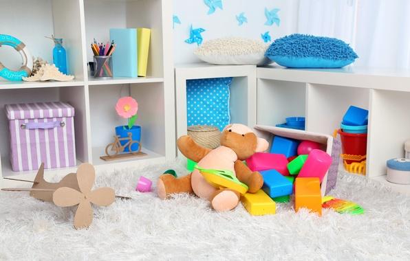 Картинка игрушки, предметы, детский уголок, детская комната