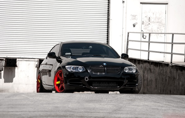 Картинка BMW, Red, Black, 335i, E92