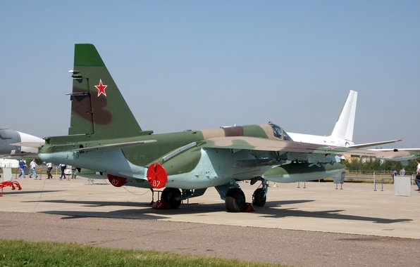 Картинка Небо, Sky, Сухой, Грач, Су-25, ВВС России, Штурмовик, Russian Air Force, Su-25