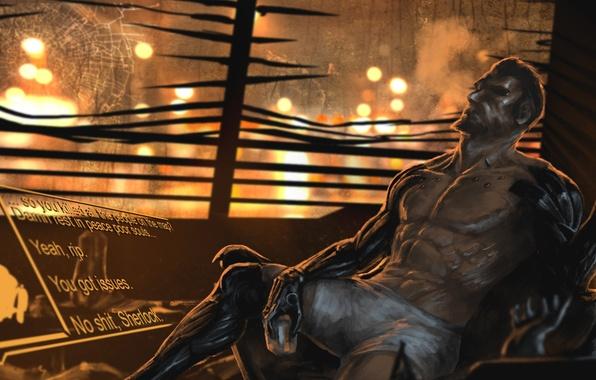 Картинка киборг, art, deus ex, Adam Jensen, Deus Ex: Mankind Divided