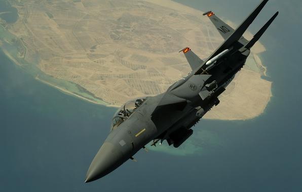 Картинка земля, истребитель, кабина, пилот, Eagle, F-15E, McDonnell Douglas