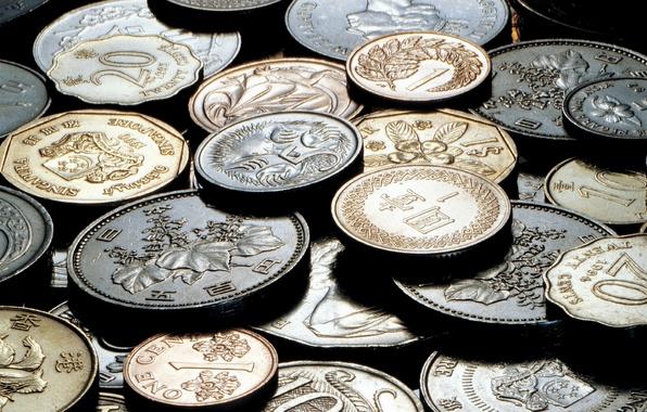 Картинка деньги, метал, железо, мелочь, юань, цент, рубль