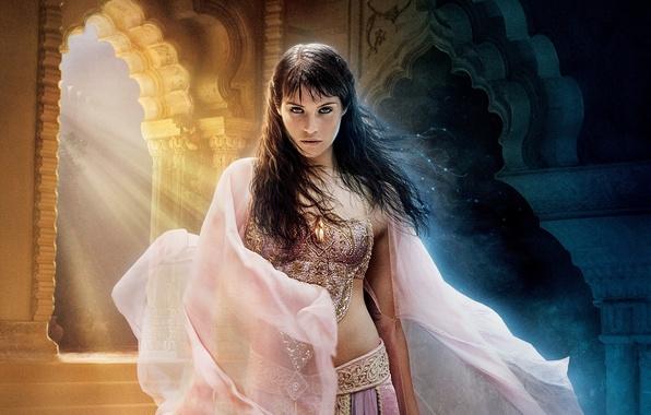 Картинка красавица, арка, Prince of Persia, дворец, Принц Персии, солнечные лучи, the movie, The Sands of …