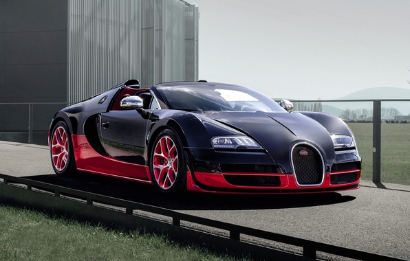 Картинка Roadster, Бугатти, Bugatti, Вейрон, Veyron, суперкар, передок, гиперкар, Grand Sport, Гранд Спорт, Vitesse