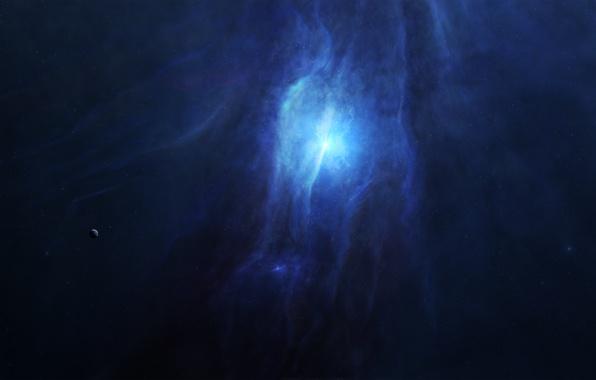 Картинка космос, свет, звезда, планета, звёзды