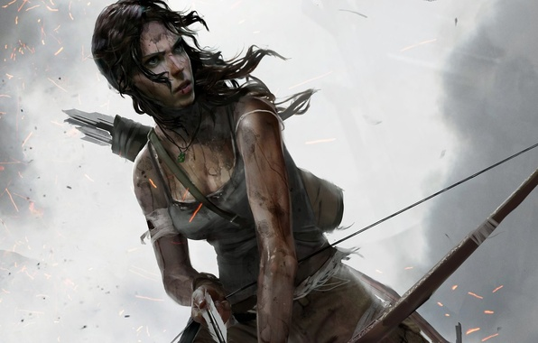 Картинка Девушка, Лук, Tomb Raider, Лара Крофт, Lara Croft, Стрела, Definitive Edition, Tomb Raider: Definitive Edition