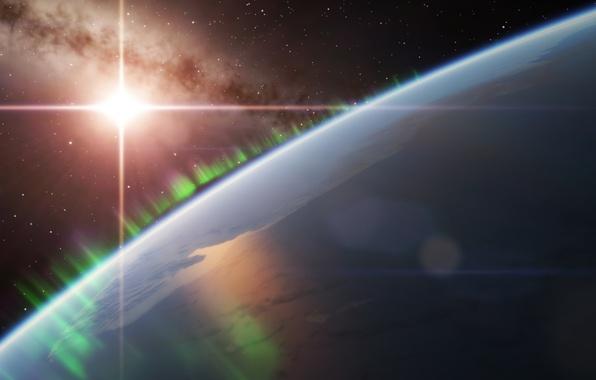 Картинка космос, звезда, планета, space, star, planet