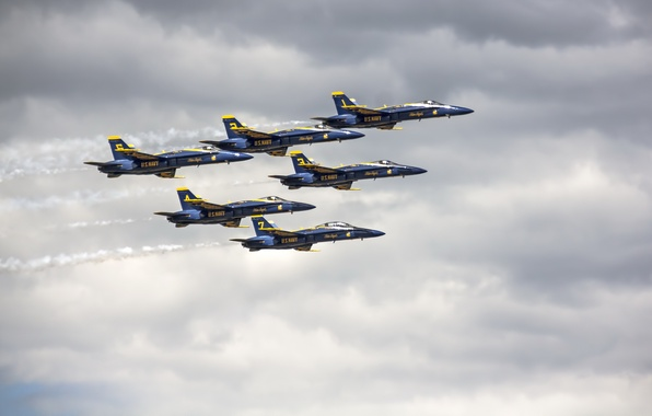 Картинка Blue Angels, Rhode Island, Air Show