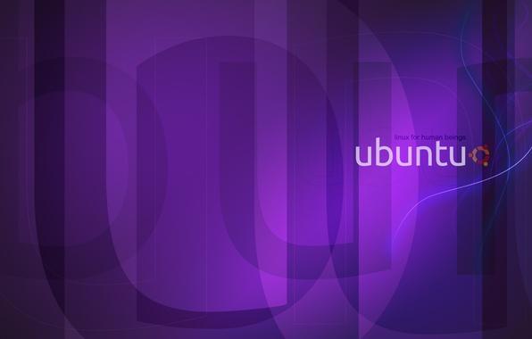 Картинка фиолетовый, Linux, линукс, Ubuntu, убунту, purple, violet