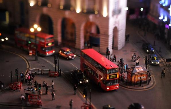 Картинка машина, макро, свет, машины, красный, природа, город, фон, движение, люди, транспорт, улица, здание, человек, фонари, …