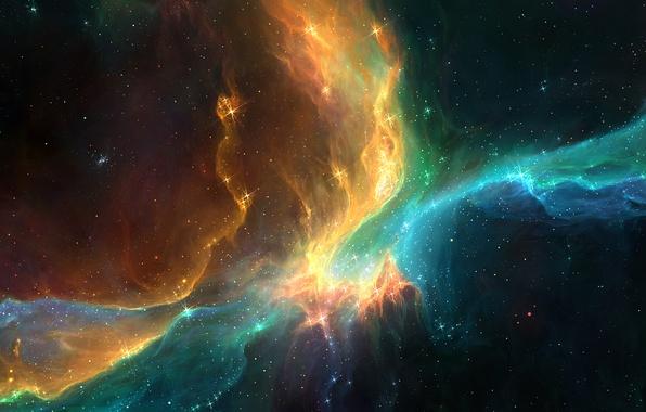 Картинка космос, звезды, туманность, сияние, красота, арт, галактика