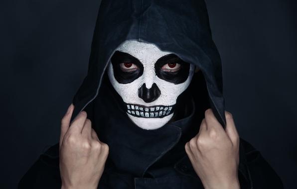 Картинка skull, look, makeup