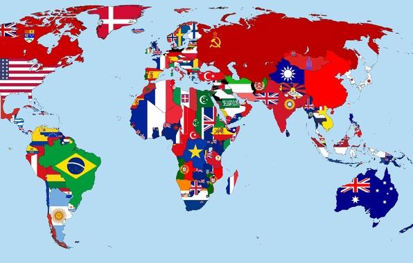 Флаги стран мира 1930 год карта обои