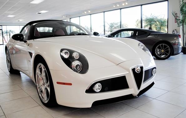 Картинка Alfa, Romeo, белый.цвет