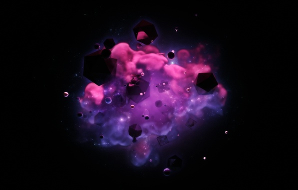 Картинка космос, абстракция, фон, digital art, hq wallpaper
