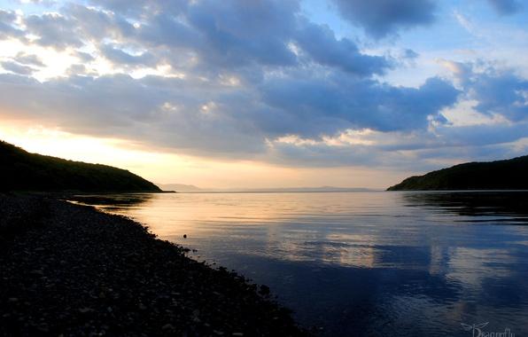Картинка Закат, Природа, Море, Пейзажи